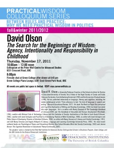 David Olson: The Search for the Beginnings of Wisdom