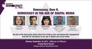 Democracy in the Age of Digital Media – Sept. 16