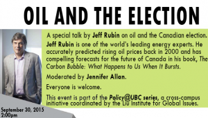Jeff Rubin: Oil & the Canadian election