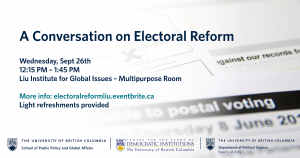 A Conversation on Electoral Reform